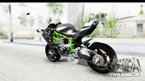 Kawasaki Ninja H2R Black pour GTA San Andreas laissé vue
