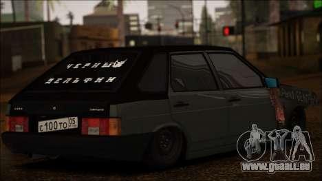2109 Clochard pour GTA San Andreas sur la vue arrière gauche