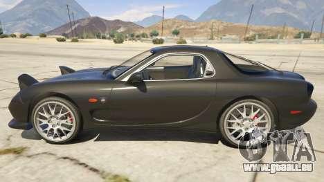 GTA 5 2002 Mazda RX-7 Spirit R Type vue latérale gauche