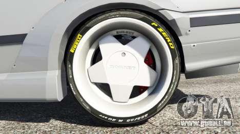 GTA 5 BMW M3 (E36) Street Custom arrière droit vue de côté