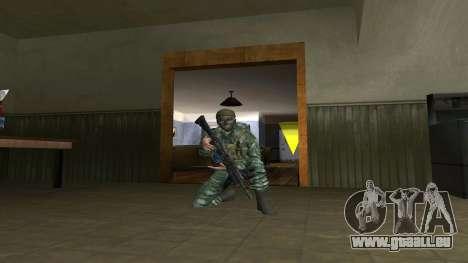 L'atmosphère de soldat en tenue de camouflage de pour GTA San Andreas troisième écran