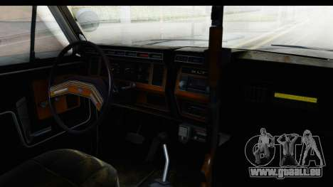 Ford Bronco 1982 Police pour GTA San Andreas vue intérieure