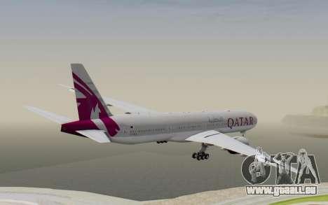 Boeing 777-300ER Qatar Airways v1 pour GTA San Andreas vue de droite