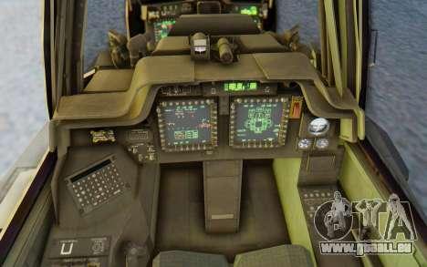 AH-64 Apache Marines pour GTA San Andreas vue intérieure