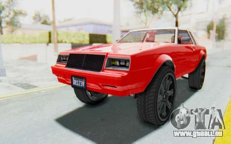 GTA 5 Willard Faction Custom Donk v2 IVF pour GTA San Andreas vue de droite