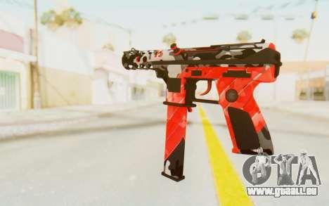 Tec-9 Neural Red pour GTA San Andreas deuxième écran
