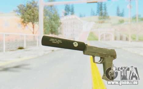 HK45 Silenced pour GTA San Andreas deuxième écran
