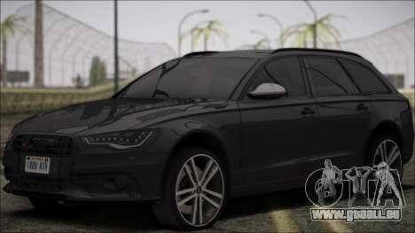 Audi S6 für GTA San Andreas Innenansicht