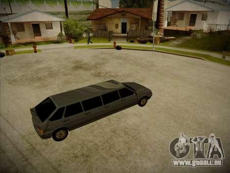 VAZ 2114 Verheerenden HQ-Modell für GTA San Andreas zurück linke Ansicht