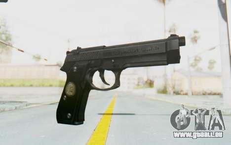 Tariq Iraqi Pistol Back v1 Black pour GTA San Andreas
