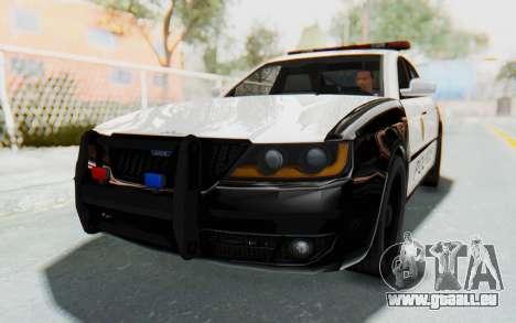 ASYM Desanne XT Pursuit v3 pour GTA San Andreas vue de droite