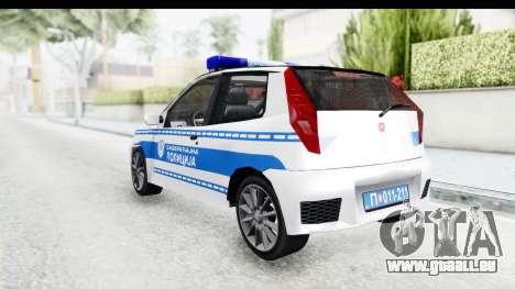 Fiat Punto Mk2 Policija pour GTA San Andreas sur la vue arrière gauche