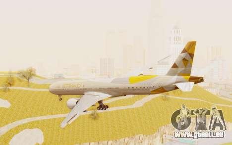 Boeing 777-300ER Etihad Airways pour GTA San Andreas laissé vue
