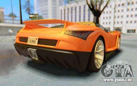 GTA 5 Grotti Cheetah IVF pour GTA San Andreas vue de droite