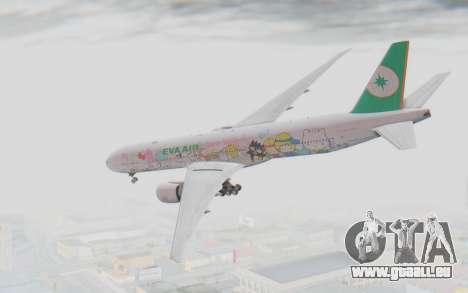 Boeing 777-300ER Eva Air v1 pour GTA San Andreas laissé vue