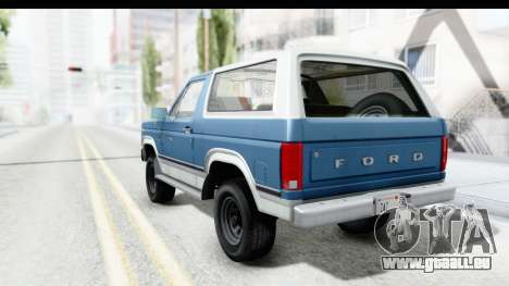 Ford Bronco 1980 pour GTA San Andreas laissé vue