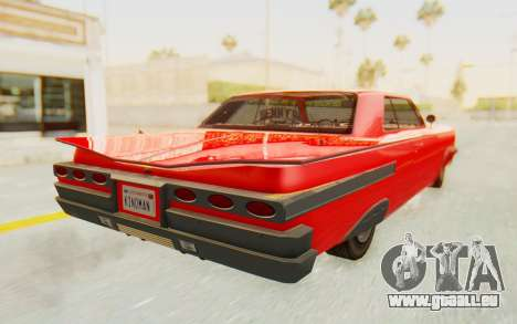 GTA 5 Declasse Voodoo Alternative v2 pour GTA San Andreas laissé vue