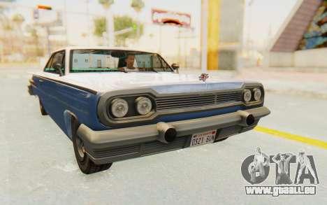 GTA 5 Declasse Voodoo Alternative v2 PJ für GTA San Andreas rechten Ansicht