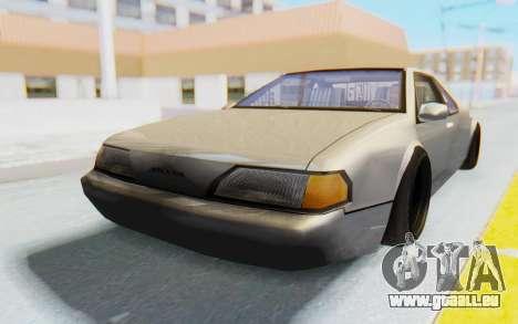 Fortune Wide Body pour GTA San Andreas sur la vue arrière gauche