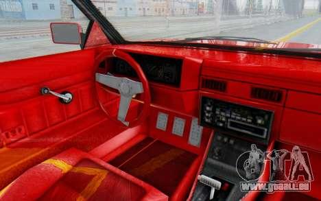 GTA 5 Willard Faction Custom Donk v2 IVF pour GTA San Andreas vue intérieure