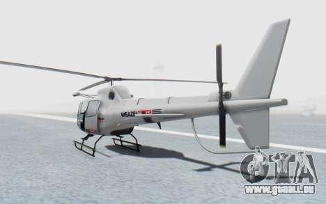GTA 5 News Chopper Style Weazel News für GTA San Andreas linke Ansicht