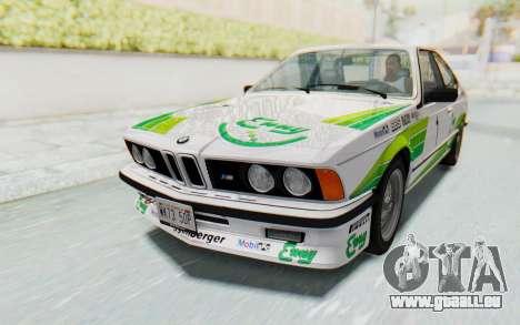 BMW M635 CSi (E24) 1984 HQLM PJ2 pour GTA San Andreas moteur