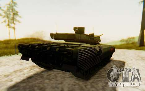 T-14 Armata für GTA San Andreas zurück linke Ansicht