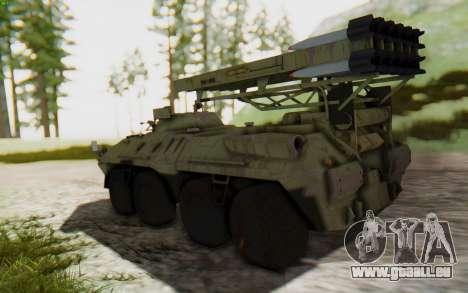MGSV Phantom Pain ZHUK APC Tank für GTA San Andreas linke Ansicht