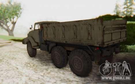 MGSV Phantom Pain Zi-GRA 6T Truck pour GTA San Andreas laissé vue