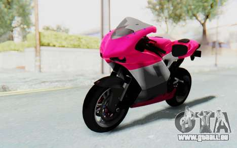 Ducati 1098R High Modification für GTA San Andreas zurück linke Ansicht