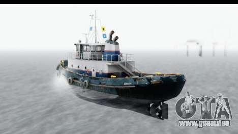 GTA 5 Buckingham Tug Boat v2 für GTA San Andreas linke Ansicht