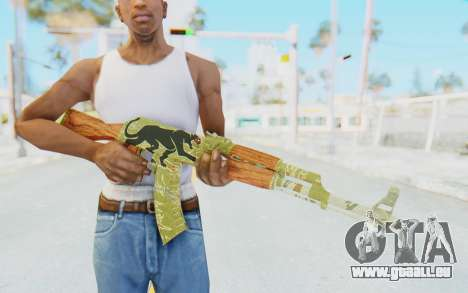CS:GO - AK-47 Jaguar für GTA San Andreas dritten Screenshot