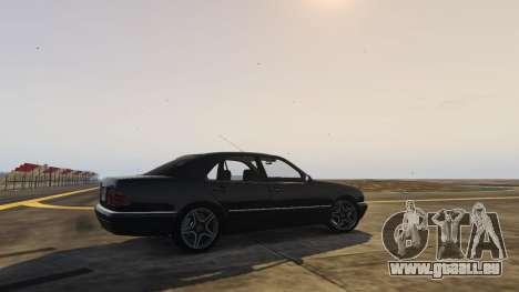 GTA 5 Mercedes-Benz W210 v1.0 arrière vue latérale gauche