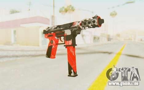 Tec-9 Neural Red pour GTA San Andreas