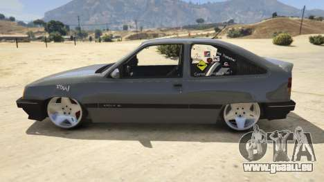 GTA 5 Chevrolet Kadett SL 2.0 Lowered linke Seitenansicht