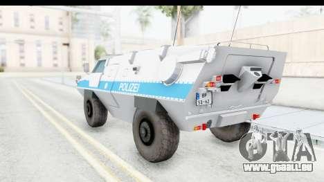 Hermelin TM170 Polizei für GTA San Andreas linke Ansicht