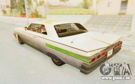 GTA 5 Declasse Voodoo Alternative v2 PJ pour GTA San Andreas vue de dessous