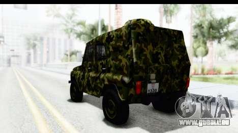 UAZ-469 de la police Militaire de la Serbie pour GTA San Andreas laissé vue