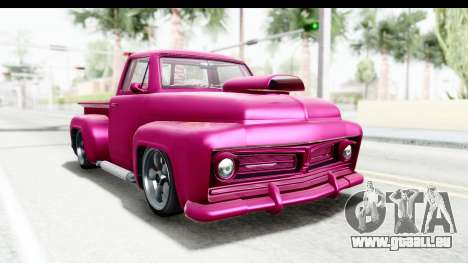 GTA 5 Vapid Slamvan Custom IVF für GTA San Andreas zurück linke Ansicht