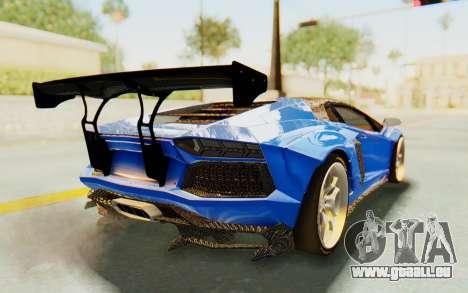 Lamborghini Aventador LP700-4 LB Walk Fenders für GTA San Andreas Innenansicht