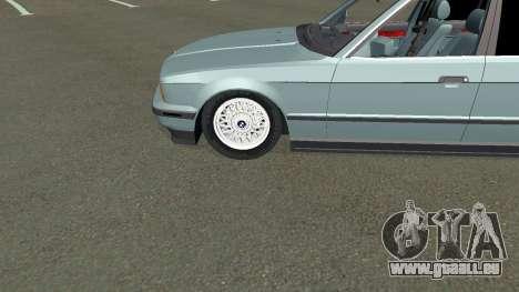 BMW 535i Gang pour GTA San Andreas vue intérieure