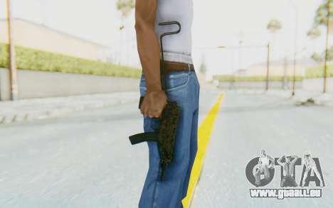 VZ-61 Skorpion Unfold Stock Russian Gorka Camo für GTA San Andreas dritten Screenshot