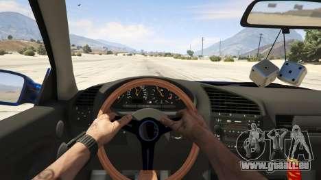 GTA 5 BMW M3 E36 DRIFTMISSILE arrière droit vue de côté