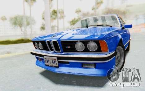 BMW M635 CSi (E24) 1984 HQLM PJ1 für GTA San Andreas rechten Ansicht