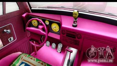 GTA 5 Vapid Slamvan Custom IVF für GTA San Andreas Innenansicht