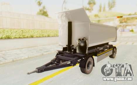 MAN TGA Energrom Edition Trailer v2 pour GTA San Andreas sur la vue arrière gauche