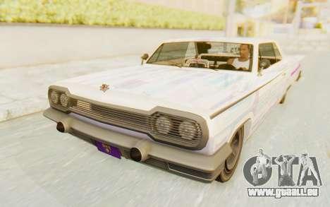 GTA 5 Declasse Voodoo Alternative v2 für GTA San Andreas Unteransicht