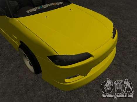 Nissan Silvia S15 für GTA San Andreas Unteransicht
