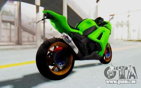 Kawasaki Ninja 250 Abs Streetrace pour GTA San Andreas laissé vue