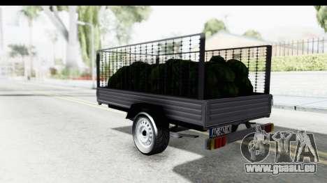 Volkswagen T4 Trailer für GTA San Andreas linke Ansicht